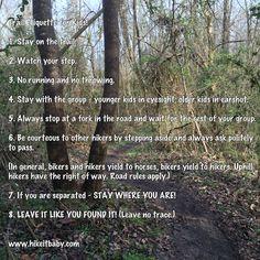 Trail Etiquette for Kids