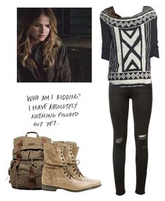 """""""Malia Tate - tw / teen wolf"""" by shadyannon ❤ liked on Polyvore featuring Steve Madden, rag & bone and Lucky Brand"""