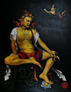 Sri Tilopa based on Kagyu Sertreng thangka