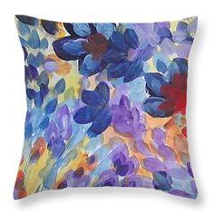 "Color Flurry Throw Pillow 14"" x 14"""