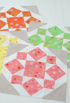 On a Whim blocks by croskelley with briar rose by heather ross