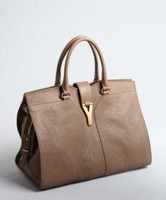 Yves Saint Laurent chestnut leather 'Cabas Chyc' tote bag   BLUEFLY up to 70% off designer brands