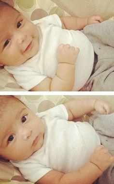 Snooki's baby Lorenzo. hate her but she made a cute baby