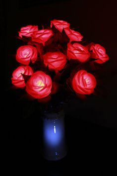 Lighted Red Roses - Best Valentine's Day Lighted Decorations 2013