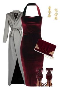 Burgundy velvet formal dress outfit with metallic coat Source by SirenaSana dress formal Classy Outfits, Sexy Outfits, Beautiful Outfits, Stylish Outfits, Dress Outfits, Fashion Outfits, Womens Fashion, Party Outfits, Burgundy Dress Outfit