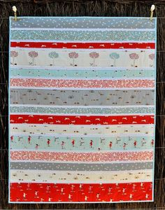 Kate Conklin Designs: Simple Strip Quilt Tutorial