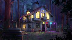 Summer night, Sylvain Sarrailh on ArtStation at https://www.artstation.com/artwork/summer-night