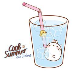 A cute little way for Molang and Piu-Piu to cool off~. Chibi Kawaii, Kawaii Bunny, Kawaii Doodles, Kawaii Art, Cute Bunny, Kawaii Anime, Kawaii Drawings, Cute Drawings, Hello Kitty