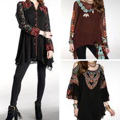 Layers of chiffon, lace, ruffles, and intricate embroidery. These tunics are simply stunning! - Vintage Collection - #Casanovasdownfall #FallFashion #Embroidery #FashionInspo  #StyleInspo #Ootd #BoutiqueFashion #Thanksgiving