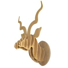 HEAD ON DESIGN | Medium Bamboo Kudu Trophy Head - Homeware - 5rooms.com