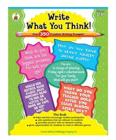 Take a look at this Grades 3-5 Write What You Think! Workbook today!