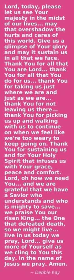 Praise, Debbie Kay, I didn't pin this on my Trinity board because I felt it was needed on this one. To all that visit this, I pinned for you. God bless you. Faith Prayer, My Prayer, Faith In God, Night Prayer, Bible Prayers, Spiritual Prayers, Angel Prayers, Christian Prayers, Prayer Times
