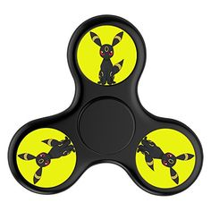 Cheap price ToyHouse Fidget Spinner Dark Pokemon logo Tri-Spinner High Speed Spin Stress Reducer Relieve Anxiety And Boredom Helps Focus Make Fun For You - Black on sale