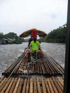 A raft ride, Kanchanaburi, Thailand