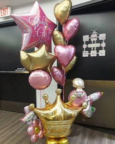 Bienvenida Princesa Emma 😍👧💕💕💕💕💕💕💕que Dios te Bendiga. Mil Felicidades a sus papitos @adrihumpierres Y @juanmihc7 #freelatexballoon… Balloon Tassel, Baby Balloon, Balloon Gift, Baby Shower Balloons, Balloon Bouquet, Balloon Garland, Birthday Balloons, Balloon Centerpieces, Balloon Decorations Party