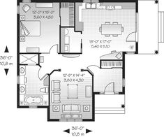 [ Simple Small House Floor Plans Tiny Bedroom Apartment Floor Plan Bedroom Apartment Dimensions Floor Plan Bedroom Apartment ] - Best Free Home Design Idea & Inspiration One Bedroom House Plans, Small House Floor Plans, Cottage Style House Plans, Cottage Floor Plans, Cottage Style Homes, Vestibule, Home Design, Design Ideas, Provence