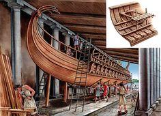 """Trireme: Hull construction"", Peter Bull"