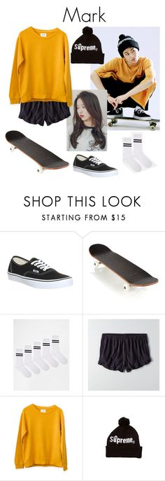 """""""Mark NCT U Teaser Image"""" by k-lookbooks ❤ liked on Polyvore featuring Vans, AMI, ASOS and American Eagle Outfitters"""
