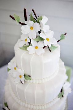 Sweet spring wedding cake