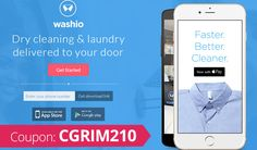 Get Washio Coupon Code: Use promo code CGRIM210 for $10 off your first Uber for Laundry experience Dry Cleaning Services, 10 Off, Uber, Coupon Codes, Get Started, Coupons, Laundry, Apps, Coding