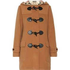 Burberry Wool-blend duffle coat (14.787.985 IDR) ❤ liked on Polyvore featuring outerwear, coats, camel, beige camel coat, zipper coat, toggle duffle coat, wool blend coat and duffle coat