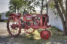 vintage farmin': We had a vintage Farmall tractor back on our farm when I was little, so this really brings back memories!