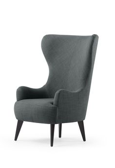 The Bodil Armchair, in Smart Grey. A wingbacked design by Bodil Bjerkvik Blain. £499. MADE.COM