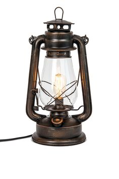 Dimmable Electric Lantern lamp with Edison Bulb Included Rustic Rust Finish - New item. We now offer our most popular wall sconce lantern in a plug in Rustic Ta
