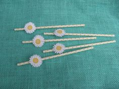 Yellow and White Polka Dot Paper Straw with by ALittleMerriment, $12.00