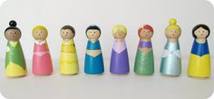 Peg People.  Would be a cute idea for next year, just maybe not Disney people.  Although, that Ariel is stinkin' cute.