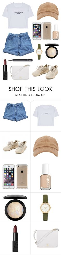 """""""//I THINK I WONT GO OUT TONIGHT//"""" by peiweishei on Polyvore featuring Bill Blass, WithChic, Speck, Essie, MAC Cosmetics, Skagen, NARS Cosmetics and Furla"""