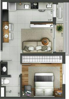 Over 100 small studio apartment layout design ideas - home design , Layouts Casa, House Layouts, Small House Plans, House Floor Plans, Studio Floor Plans, Hotel Floor Plan, Studio Apartment Layout, Small Apartment Layout, Studio Layout