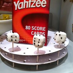 Dice Cake Pops!! Perfect for game night!