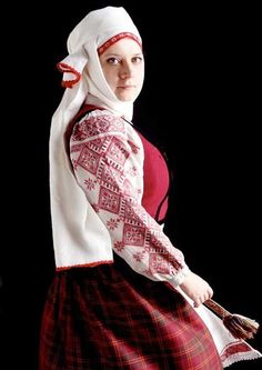 Volya, a native Belarusian, dressed in traditional dress. Photo credit: Volya Dzemka