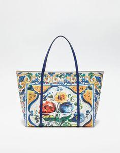 6cc92ca961c4 PRINTED DAUPHINE LEATHER ESCAPE BAG Dolce Gabbana Online