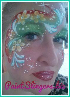 Flower face pAinting design. Paintslingers.biz