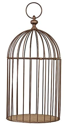 Decorative Bird Cage to protect plants from the cat 48 x 25 x 25 cm Winter Warmers, Event Dresses, Bird Cage, Hanging Chair, Tea Lights, Ceiling Lights, Display, Jules Verne, Outdoor Decor
