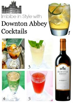 Downton Abbey Cockails  #downton #plantoparty