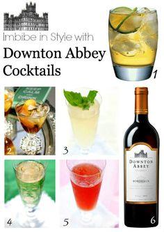 Downton Abbey Cockails  #downton #plantoparty