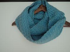 Crochet Iced Aqua Infinity Scarf
