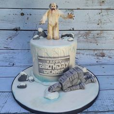 Star Wars wampa cake