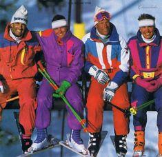 Vintage ski suits '80's