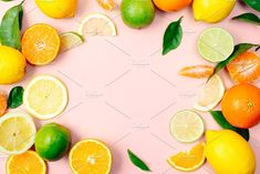 Citrus fruits background by asife on @creativemarket