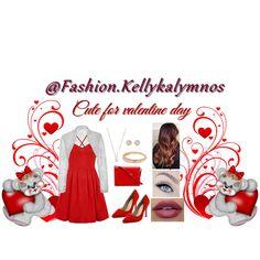 Fashion set Cute for valentine's day created via Dress Styles, Creative Home, Art Decor, Short Dresses, Fashion Dresses, Valentines, Day, Cute, Design