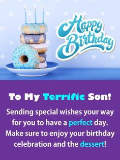 Happy Birthday Card For Son Cards Sons