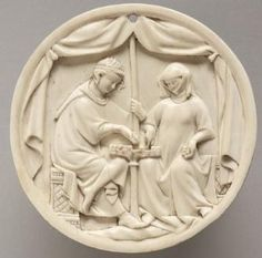 Mirror Case: A Couple Playing Chess, France, Paris, 14th century c. 1325-1350