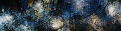 Gabriel Loire, La création 1985-1987: huile sur toile (7 éléments) 8.40m x 2.80m Gabriel, Creations, Loire, Abstract, Artwork, Painting, Oil On Canvas, Stained Glass, How To Paint