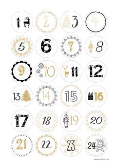 Christmas Calendar, Christmas Books, Christmas Countdown, Christmas Holidays, Christmas Crafts, Xmas, Calendar Numbers, Diy Calendar, Decoracion Navidad Diy