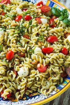 Caprese Pasta Salad & Tips for Perfect Pesto Pasta