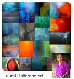 Laurel Holloman's art is amazing. Her paintings have such meaning and speak to my soul.